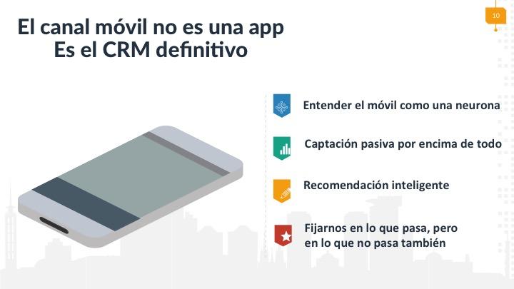 El canal móvil no es una app, es el CRM definitivo.